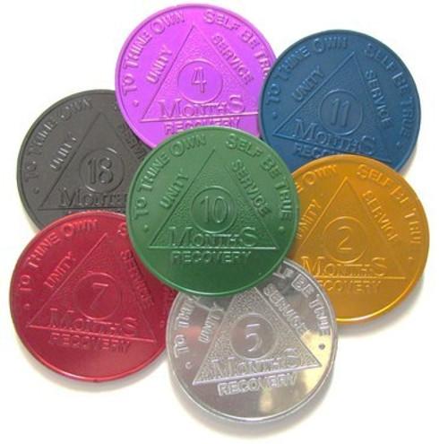 Aluminum Month Coins