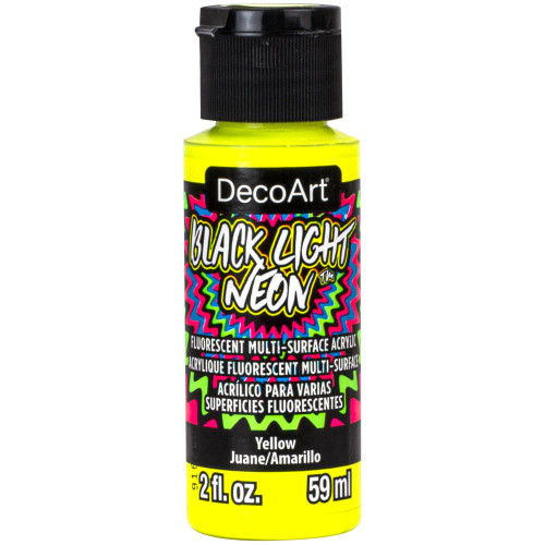 DecoArt Black Light Neon Acrylic Paint 2oz - Yellow