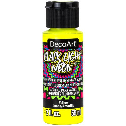 DecoArt Black Light Neon Acrylic Paint 2oz - Yellow