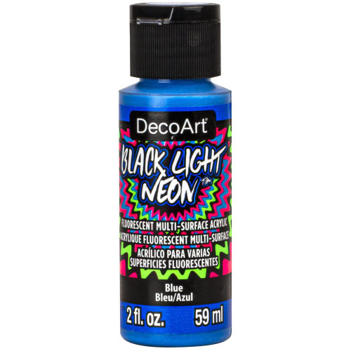 DecoArt Black Light Neon Acrylic Paint 2oz - Blue