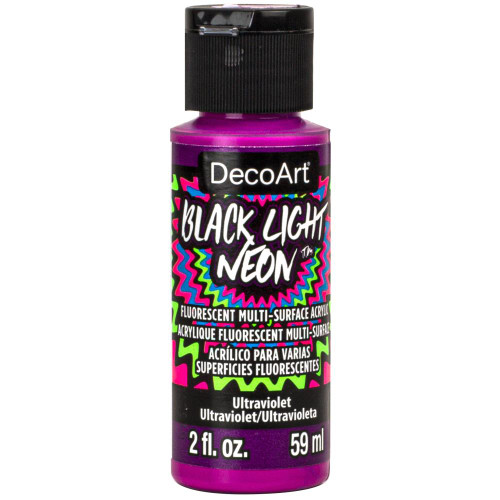 DecoArt Black Light Neon Acrylic Paint 2oz - Ultraviolet