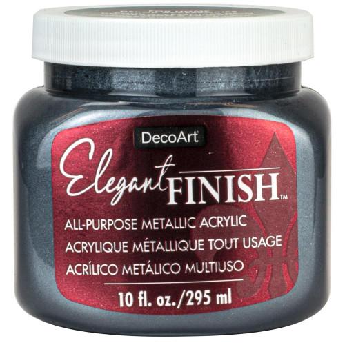 DecoArt Elegant Finish Metallic Paint 10oz - Pewter