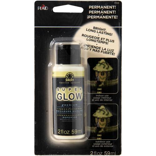 FolkArt Super Glow Acrylic Glow-In-The-Dark Paint 2oz
