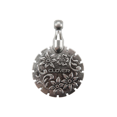Clover Thread Cutter Pendant - Antique Silver