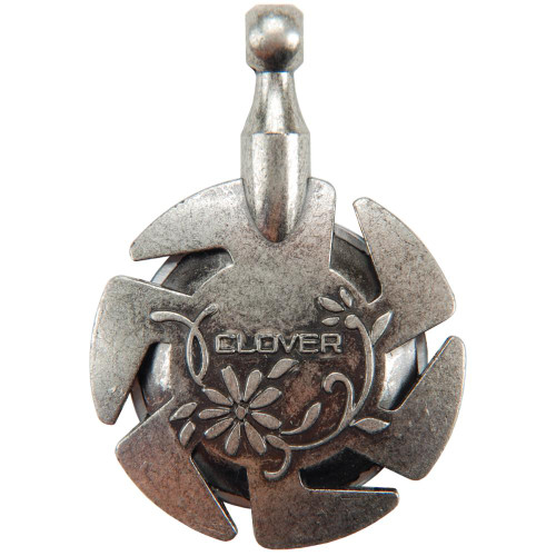 Clover Yarn Cutter Pendant - Antique Silver