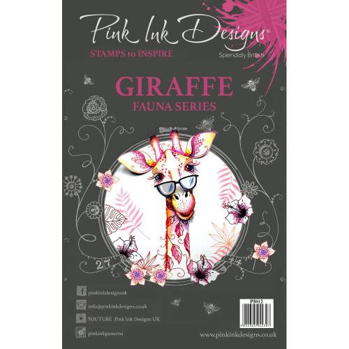 Pink Ink Designs A5 Clear Stamp Set - Giraffe