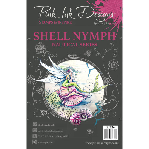 Pink Ink Designs A5 Clear Stamp Set - Shell Nymph