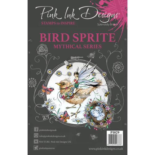 Pink Ink Designs A5 Clear Stamp Set - Bird Sprite