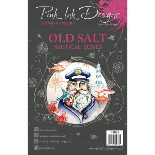 Pink Ink Designs A5 Clear Stamp Set - Old Salt