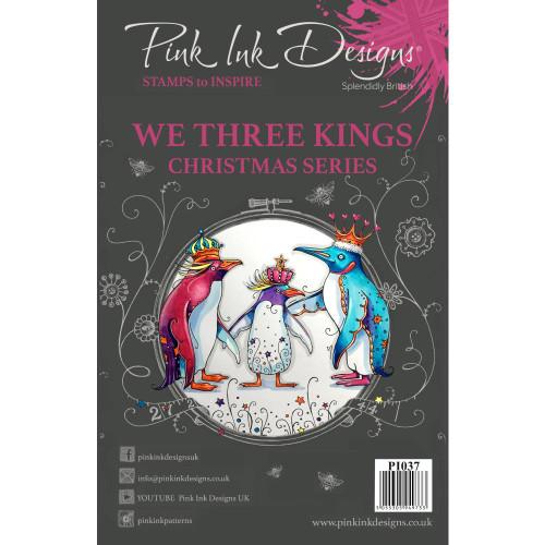 Pink Ink Designs A5 Clear Stamp Set - We Three Kings