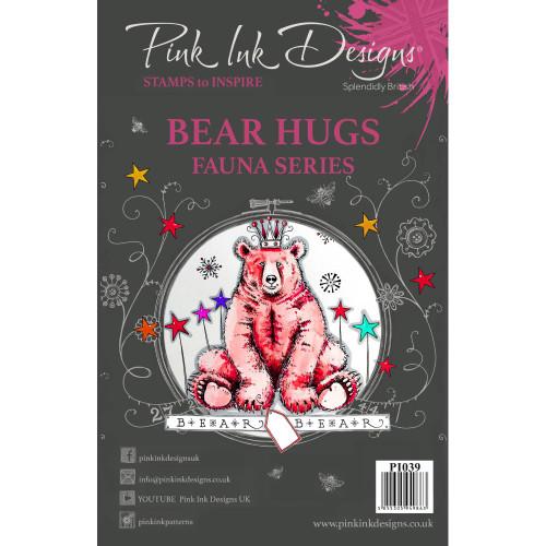 Pink Ink Designs A5 Clear Stamp Set - Bear Hugs