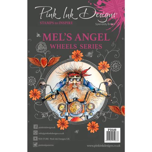 Pink Ink Designs A5 Clear Stamp Set - Mel's Angel