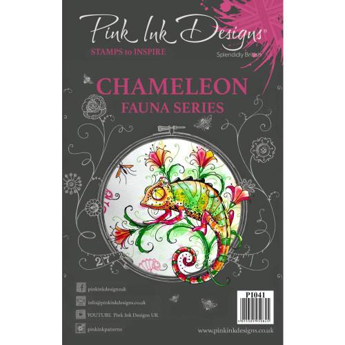 Pink Ink Designs A5 Clear Stamp Set - Chameleon