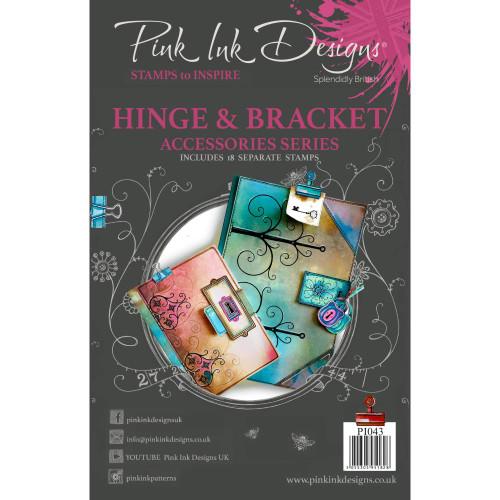Pink Ink Designs A5 Clear Stamp Set - Hinge & Bracket