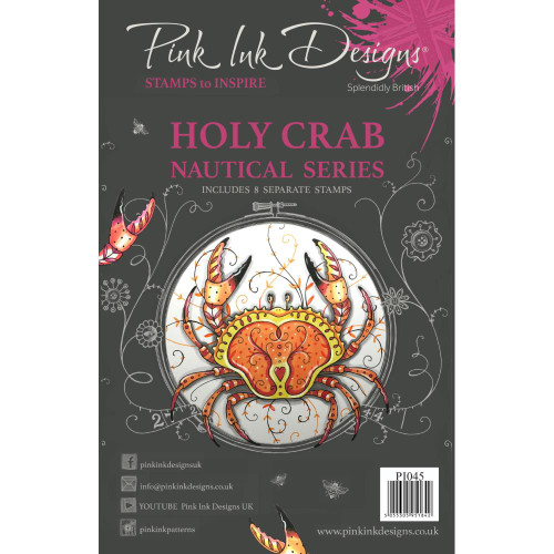Pink Ink Designs A5 Clear Stamp Set - Holy Crab
