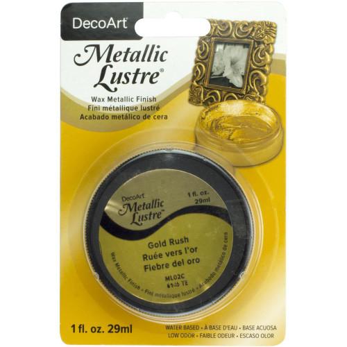 Metallic Lustre Wax Finish 1oz - Gold Rush