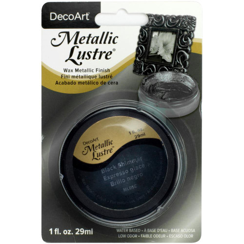 Metallic Lustre Wax Finish 1oz - Black Shimmer