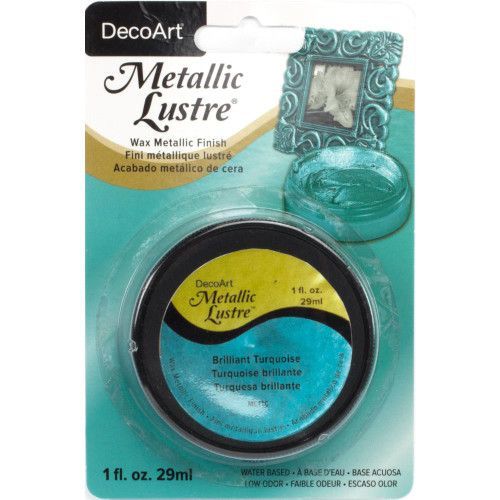 Metallic Lustre Wax Finish 1oz - Brilliant Turquoise
