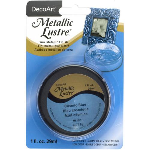Metallic Lustre Wax Finish 1oz - Cosmic Blue