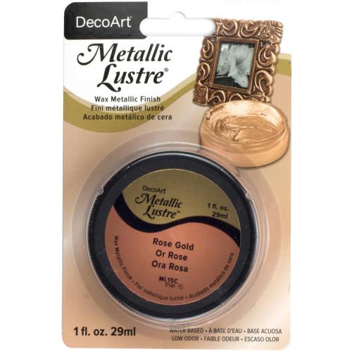 Metallic Lustre Wax Finish 1oz - Rose Gold