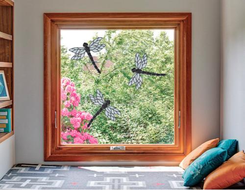 Dragonfly Window Clings - Black Glitter