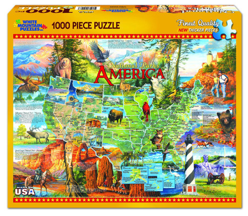 White Mountain 1000 Pc. Jigsaw Puzzle - National Parks