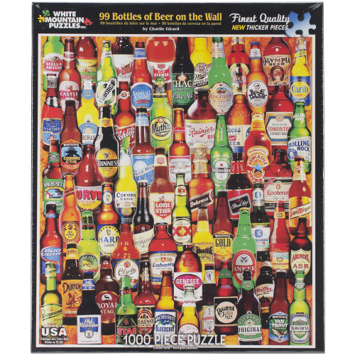 White Mountain 1000 Pc. Jigsaw Puzzle - 99 Bottles Of Beer On The Wall