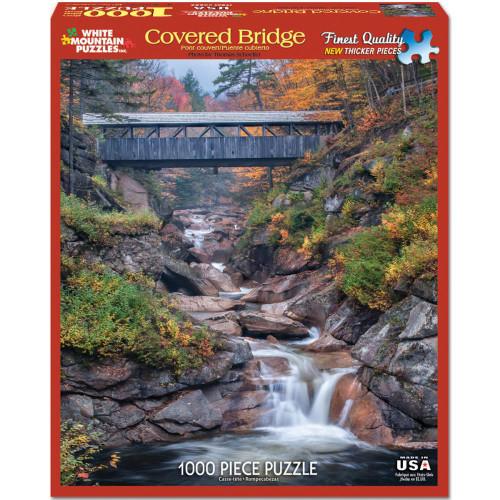 White Mountain 1000 Pc. Jigsaw Puzzle - Covered Bridge