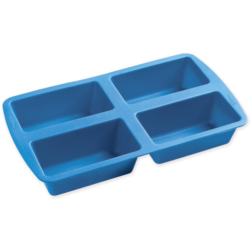 Wilton Easy-Flex Silicone Mini Loaf Pan 4-Cavity