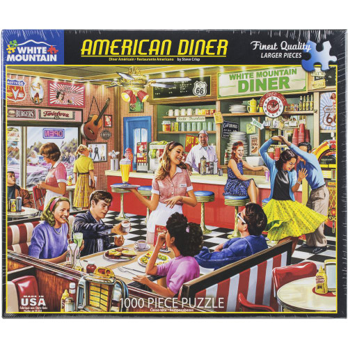 White Mountain 1000 Pc. Jigsaw Puzzle - American Diner