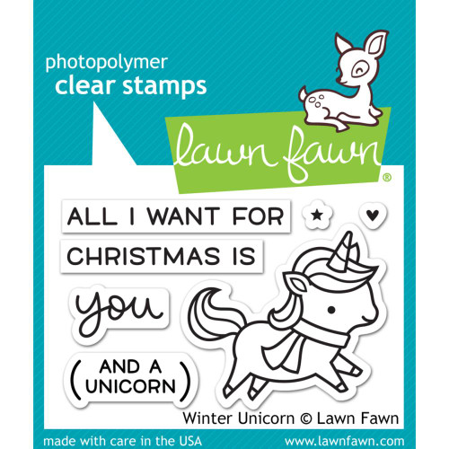 Lawn Fawn Clear Stamps - Winter Unicorn
