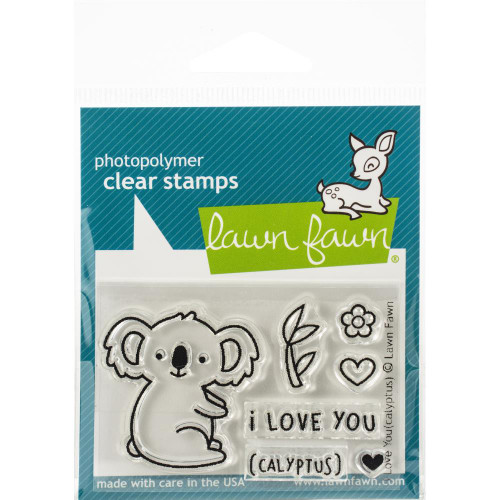 Lawn Fawn Clear Stamps - I Love You(calyptus)