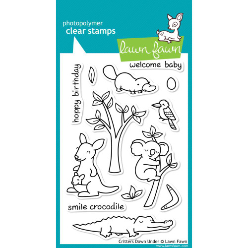 Lawn Fawn Clear Stamps - Critters Down Under