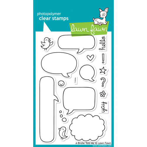 Lawn Fawn Clear Stamps - A Birdie Told Me