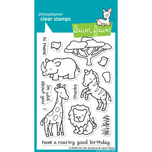 Lawn Fawn Clear Stamps - Critters On The Savanna