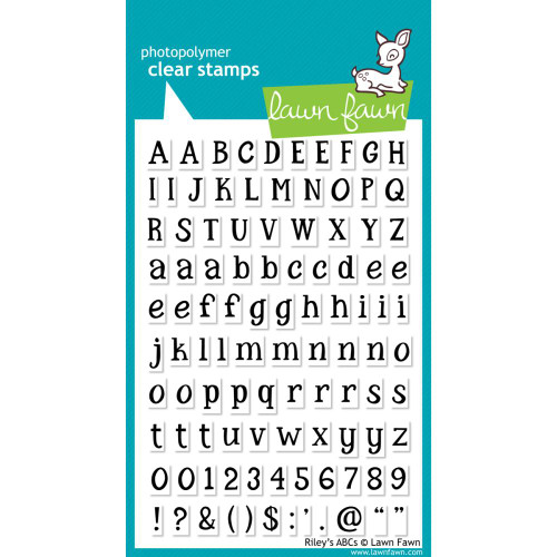 Lawn Fawn Clear Stamps - Riley's ABCs