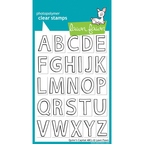 Lawn Fawn Clear Stamps - Quinn's Capital ABCs
