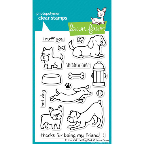 Lawn Fawn Clear Stamps - Critters At The Dog Park