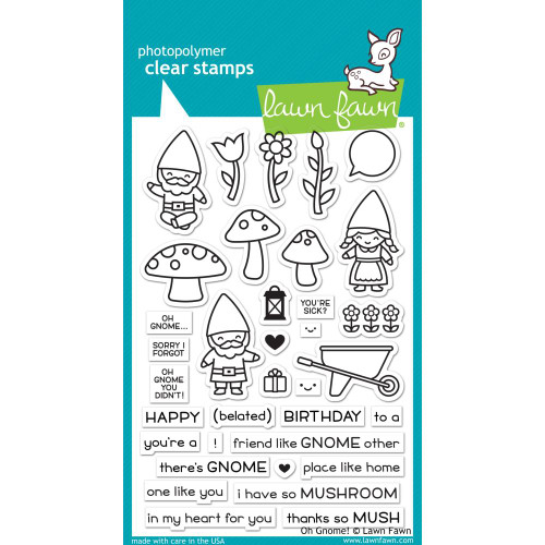 Lawn Fawn Clear Stamps -Oh Gnome!