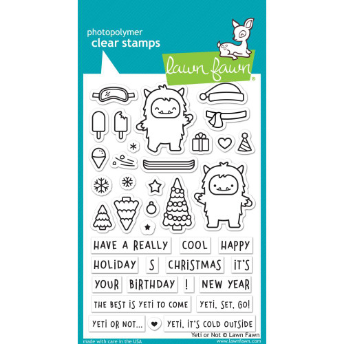 Lawn Fawn Clear Stamps - Yeti Or Not