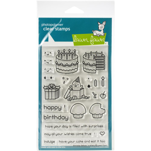 Lawn Fawn Clear Stamps - Birthday Before 'n Afters