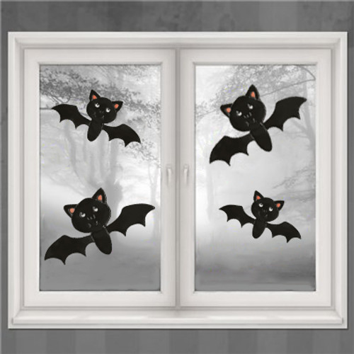 Cute Bats Window Cling Set