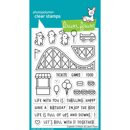 Lawn Fawn Clear Stamps - Coaster Critters