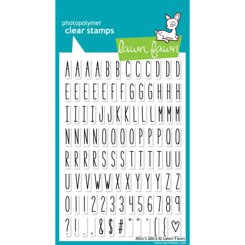 Lawn Fawn Clear Stamps - Milo's ABCs
