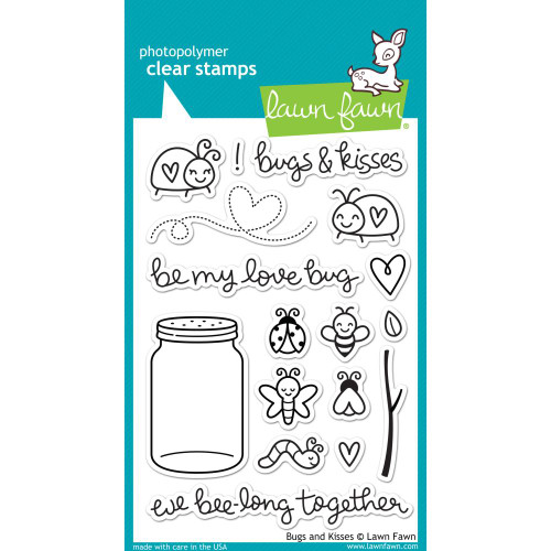 Lawn Fawn Clear Stamps - Bugs & Kisses