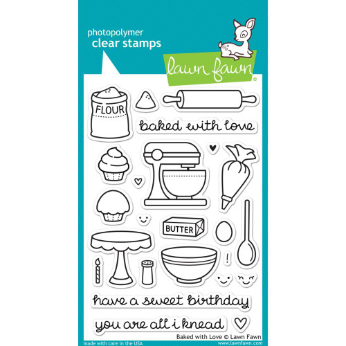 Lawn Fawn Clear Stamps - Baked With Love