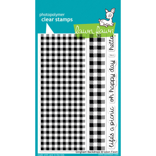 Lawn Fawn Clear Stamps - Gingham Backdrops