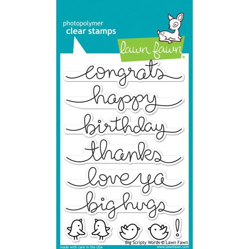 Lawn Fawn Clear Stamps - Big Scripty