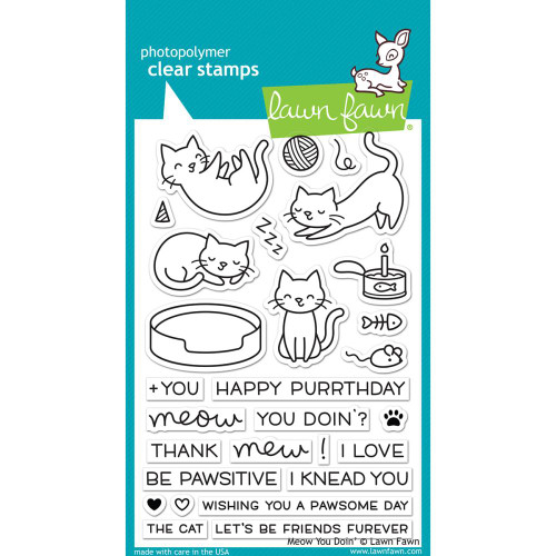 Lawn Fawn Clear Stamps - Meow You Doin'
