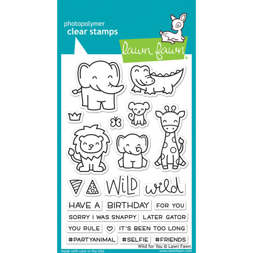 Lawn Fawn Clear Stamps - Wild For You